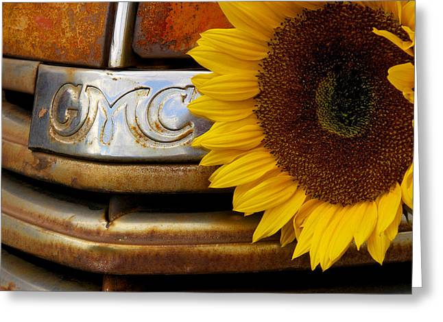 Gmc Sunflower Greeting Card