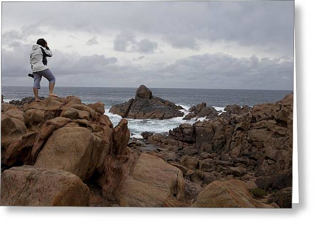 Gneiss Outcrop At Canal Rocks, Australia Greeting Card