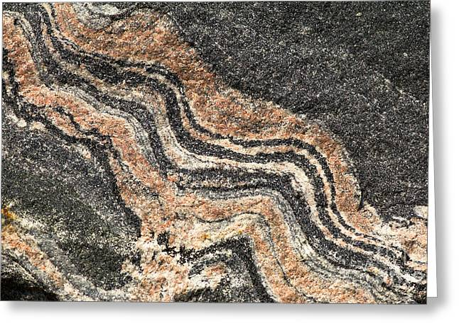 Gneiss Rock  Greeting Card