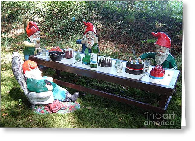 Gnome Cooking Greeting Card