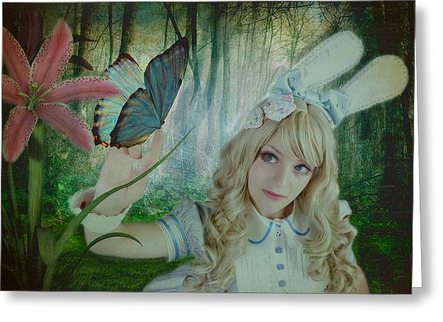 Go Ask Alice Greeting Card by Christine Holding