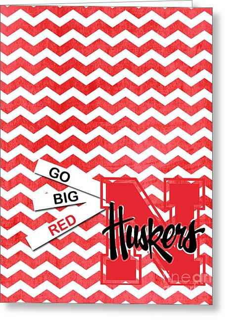 Go Big Red Greeting Card