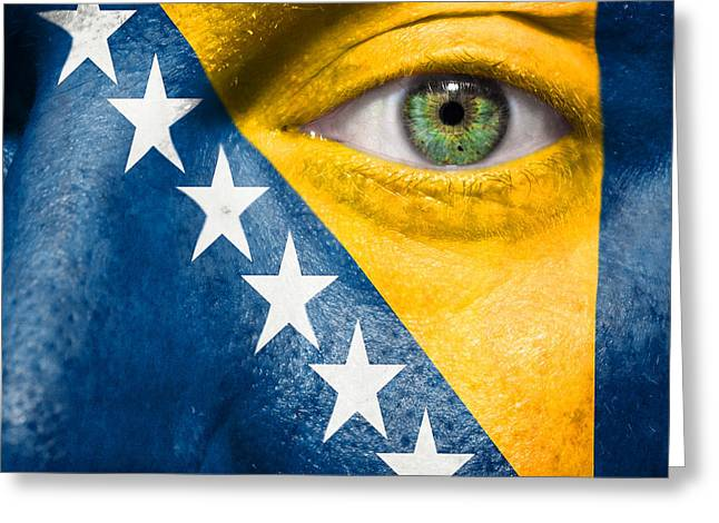 Go Bosnia And Herzegovina  Greeting Card by Semmick Photo