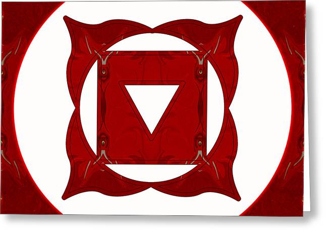Go Deep Abstract Chakra Art By Omaste Witkowski Greeting Card