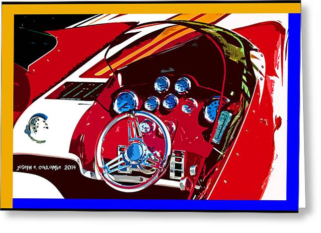 Go Fast Boat Greeting Card