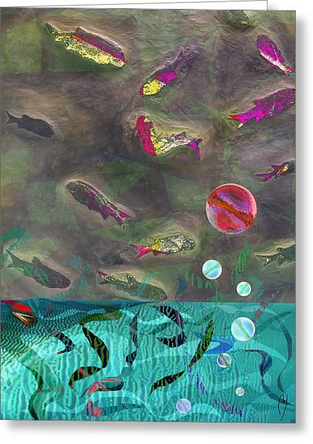 Go Fish Greeting Card by Maria Jesus Hernandez