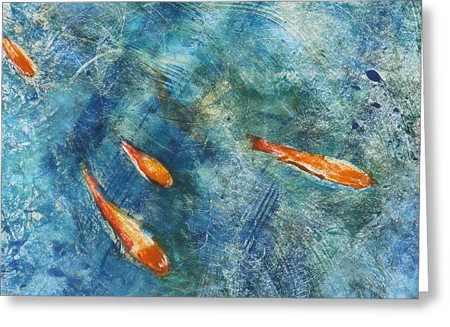 Go Fish Greeting Card by Valerie Lynch