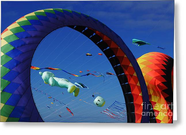 Go Fly A Kite 2 Greeting Card by Bob Christopher