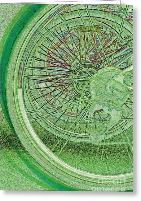Go Green 1 By Jrr Greeting Card by First Star Art