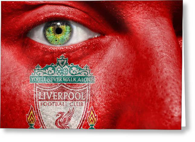 Go Liverpool Fc Greeting Card by Semmick Photo