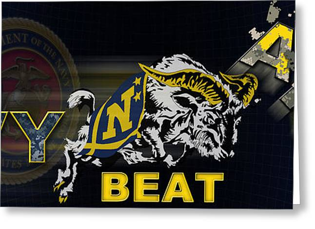 Go Navy Beat Army Greeting Card
