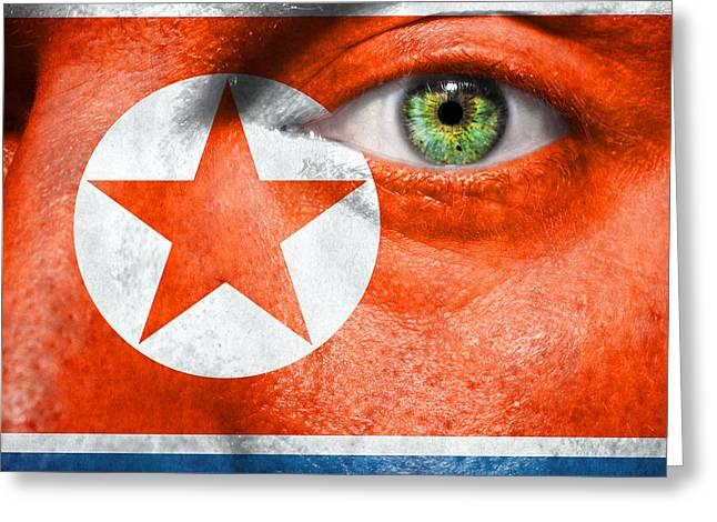 Go North Korea Greeting Card by Semmick Photo