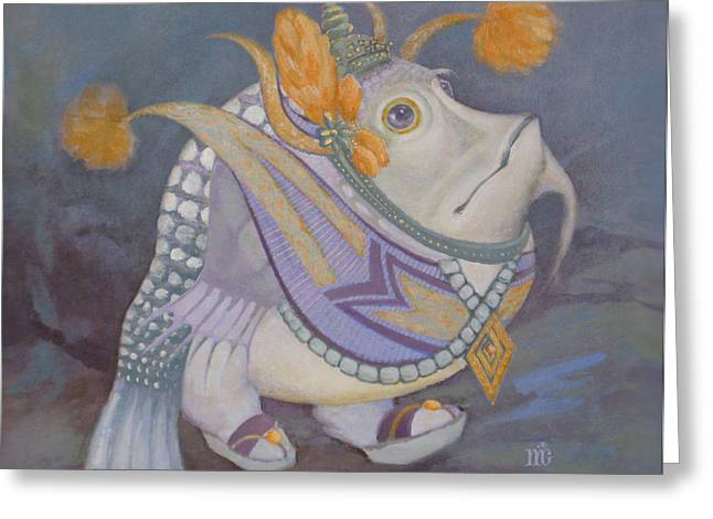 Greeting Card featuring the painting Go Thai by Marina Gnetetsky