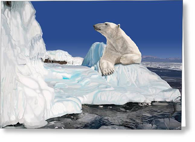 Go With The Floe Greeting Card