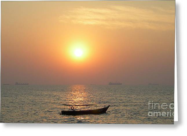 Goa Sunset Greeting Card