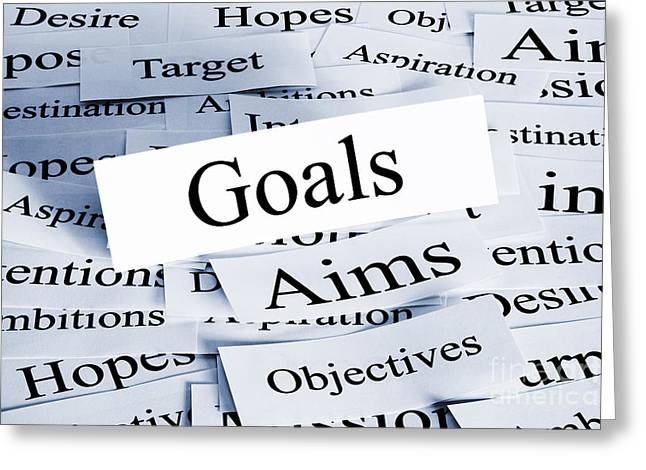 Goals Concept Greeting Card by Colin and Linda McKie