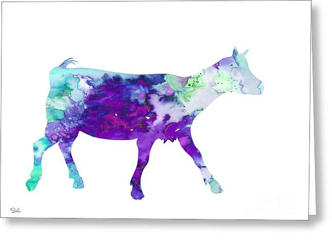Goat 2 Greeting Card by Watercolor Girl