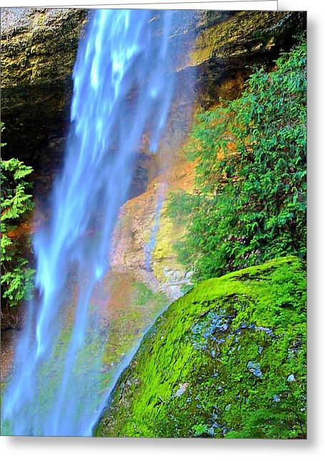 Goat Creek Falls Greeting Card
