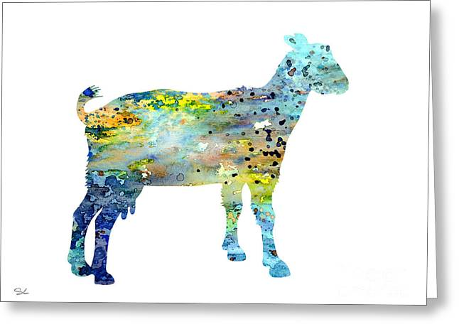 Goat Greeting Card by Watercolor Girl