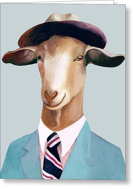 Goat Greeting Card by Animal Crew