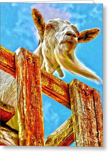 Goat Up High Greeting Card