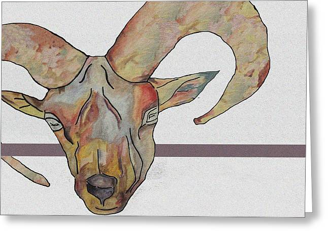 Goat Greeting Card by Water Lily