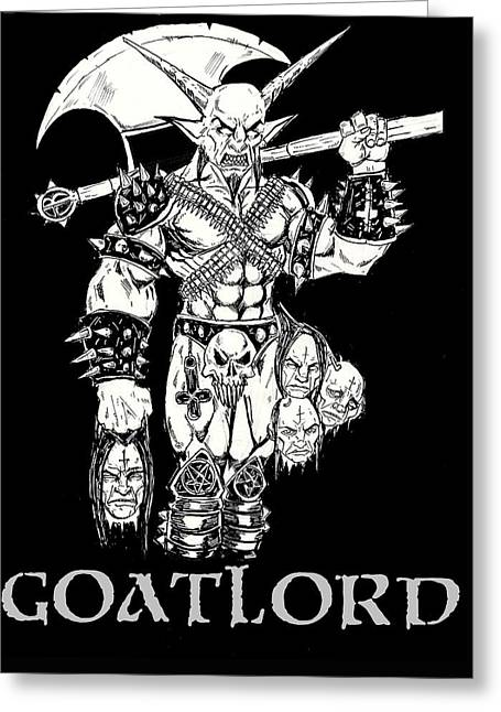 Goatlord Censorship Greeting Card by Alaric Barca