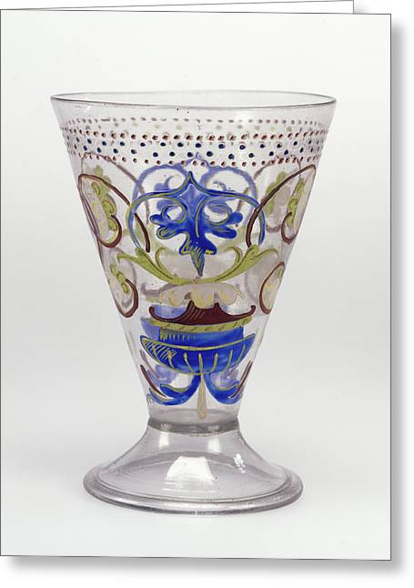 Goblet Unknown Venice, Italy, Veneto Greeting Card by Litz Collection