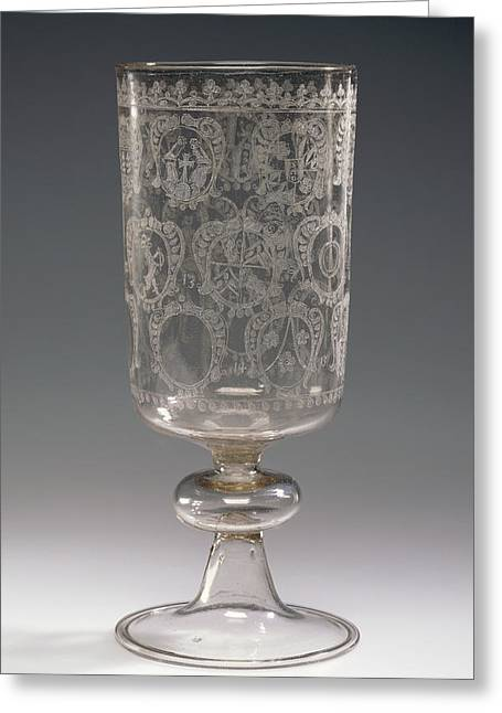 Goblet With The Arms Of Bregenz And Of Local Patricians Greeting Card