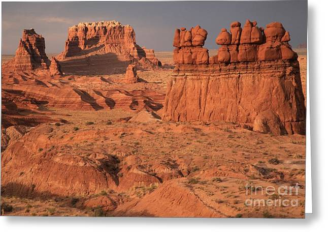 Goblin Valley Landscape Greeting Card by Adam Jewell