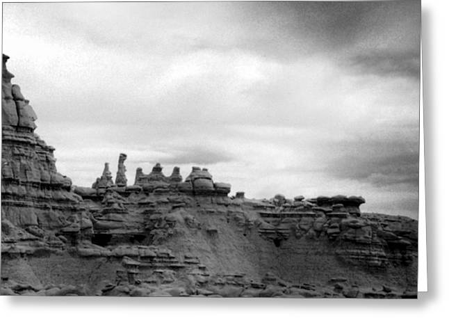 Greeting Card featuring the photograph Goblin Valley by Tarey Potter