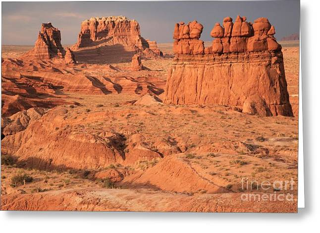 Goblins Towers And Buttes Greeting Card by Adam Jewell