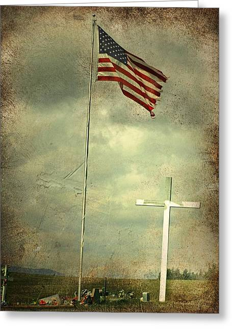 God And Country Greeting Card by Doug Fredericks