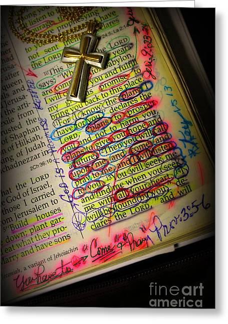 God Says I Love You Greeting Card by Reid Callaway