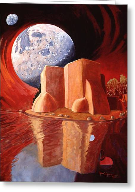 God Is In The Moon Greeting Card by Art James West