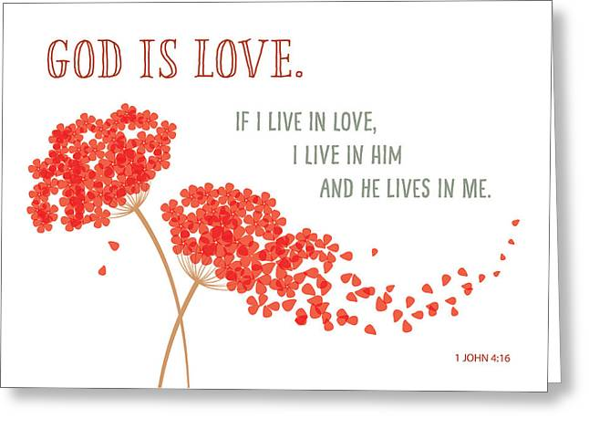 God Is Love. Greeting Card