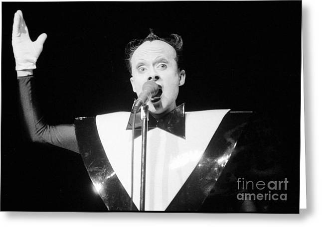 God Klaus Nomi Greeting Card