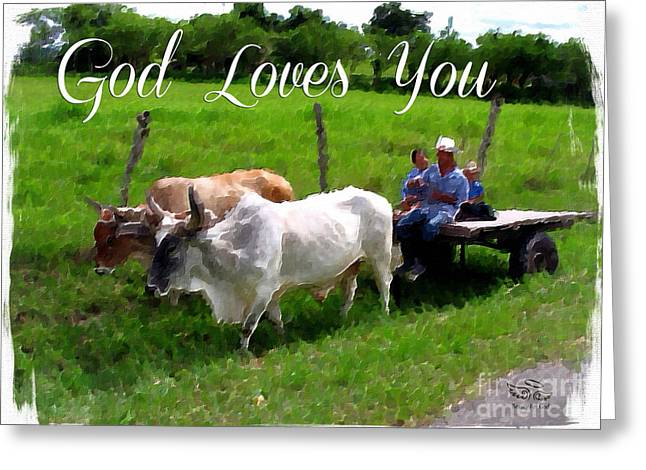 Greeting Card featuring the photograph God Loves You by Beauty For God