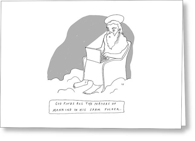 God Sits In A Throne In Heaven Greeting Card