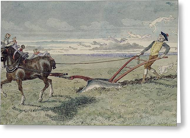 God Speed The Plough Greeting Card by Charles Altamont Doyle