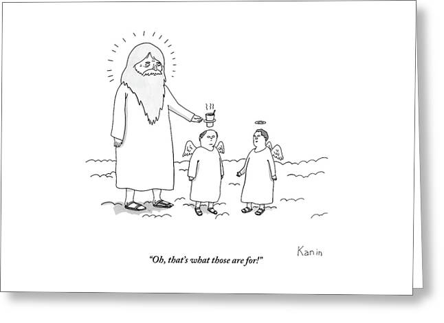 God Uses An Angel's Halo As A Cup Holder. Oh Greeting Card