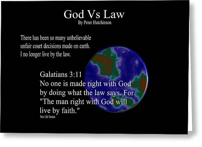 God Vs Law Greeting Card