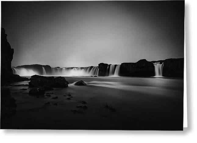 Godafoss Greeting Card by Frodi Brinks