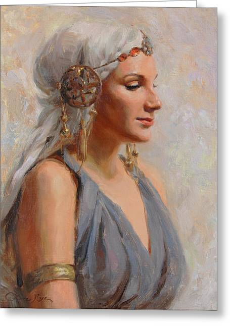 Goddess Greeting Card by Anna Rose Bain