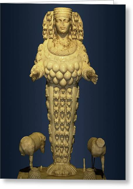 Goddess Artemis From Ephesus Greeting Card by David Parker