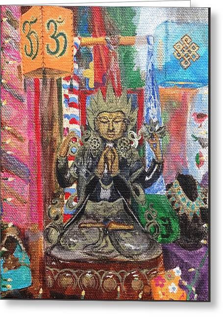 Buddha Goddess Greeting Card by Chrissey Dittus