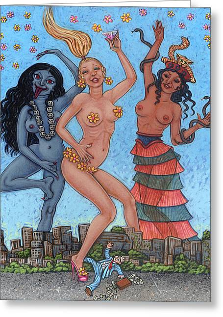 Goddess Dance Greeting Card by Holly Wood