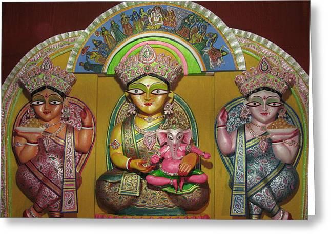 Goddess Durga Greeting Card by Pradip kumar  Paswan