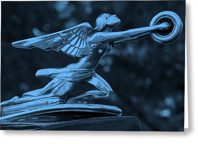 Greeting Card featuring the photograph Goddess Hood Ornament  by Patrice Zinck