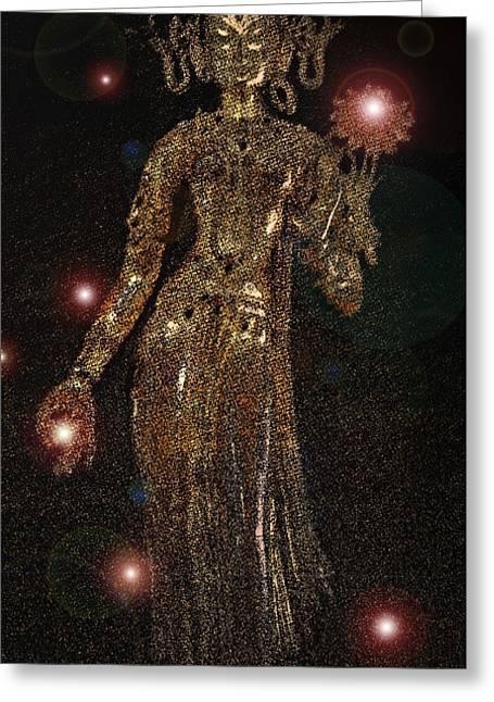 Goddess Magic By Jrr Greeting Card by First Star Art